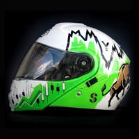 airbrush aerograf malowanie kasku motorcycle Shoei Neotec gielda makler hossa forex money bull