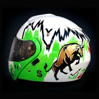 airbrush aerograf kask helmet Shoei Neotec gielda stock hossa forex money bull