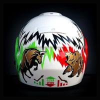airbrush aerograf malowanie helmet motorcycle Neotec gielda stock makler hossa bessa forex money bull bear