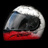 airbrush aerograf kask helmet malowanie patriotyczne