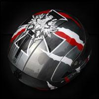 airbrush malowanie aerografem kask polska patriotyczne