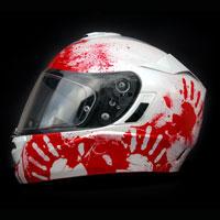 airbrush aerograf kask hjc rpha krew komar motorcycle blood