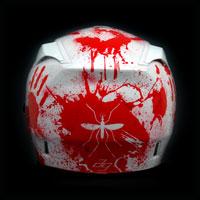airbrush aerograf kask motocyklowy hjc krew komar helmet motorcycle