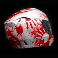 airbrush aerograf kask motocyklowy hjc rpha komar helmet blood