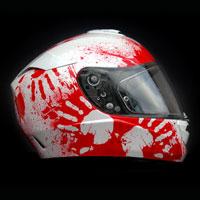 airbrush aerograf kask motocyklowy hjc rpha krew helmet motor blood