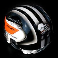 airbrush helmet hockey NHL Chadzinski