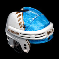 airbrush aerograf hockey helmet nhl