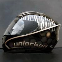 airbrush aerograf honeycomb bee helmet