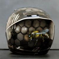 airbrush aerograf pszczola i platry miodu kask