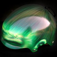 airbrush aerograf helmet kask hulk painting