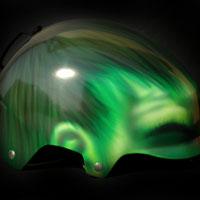 aerograf snowboard kask hulk custom painting