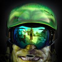 airbrush  snowboard helmet hulk custom