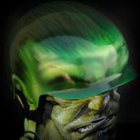 airbrush snowboard helmet hulk face custom painting