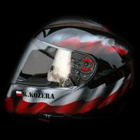 airbrush helmet husaria patriotic polish theme
