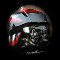 airbrush aerograf kask helmet husaria polska