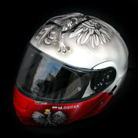 airbrush husaria poland ultras kask helmet shoei neotec