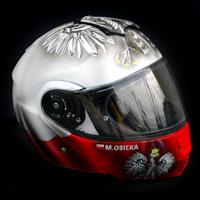 airbrush aerograf husaria polska patriotyczny ultras kask helmet shoei