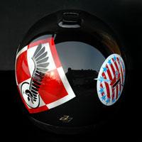 airbrush aerograf husaria kask motocyklowy