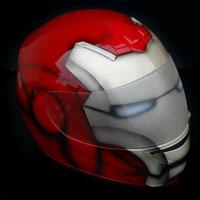 airbrush aerograf kask helmet ironman