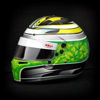 airbrush aerograf kask custom helmet bell kart karting race racing green silver sport