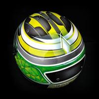 airbrush aerograf kask helmet bell kart gokart race racing green yellow sport