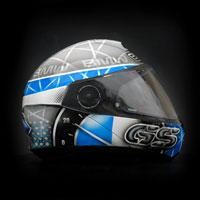 airbrush aerograf custom motorcycle helmet kask motocyklowy schuberth c4 kojot BMW GS R1200 white grey race