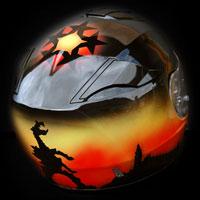 airbrush aerograf helmet kask Krakow Pentagram