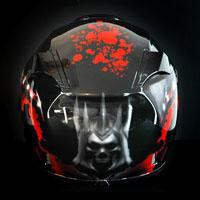 aerograf airbrush helmet kask Eredin Witcher 3 Wild Hunt
