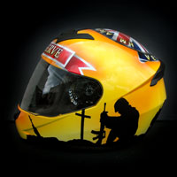 airbrush aerograf kask ls2 ff352 war veteran hm forces england soldier  weteran anglia wojna