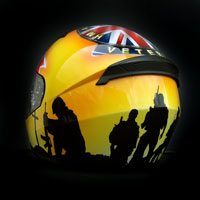 airbrush aerograf kask helmet ls2 war veteran hm forces england soldier proud to serve weteran anglia żołnierz