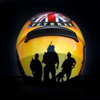 airbrush aerograf kask helmet ls2 ff352 veteran hm forces england soldier proud to serve weteran wojna żołnierz