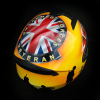 airbrush aerograf kask helmet ls2 ff352 war hm forces england soldier proud to serve anglia wojna żołnierz