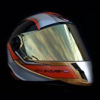 airbrush helmet aerograf na kasku kartingowym
