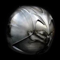 airbrush aerograf kask motocyklowy metal michał archanioł michael archangel