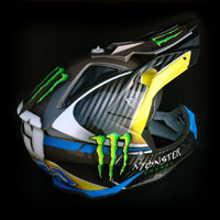airbrush aerograf custom painting monster energy racing airoh cross helmet crossowy motocross motorcycle motor