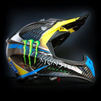 airbrush aerograf custom painting monster energy drink motorcycle motor motocykl airoh cross helmet kask