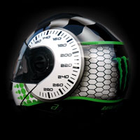 airbrush aerograf motorcycle helmet kask motocyklowy Monster rajdowy