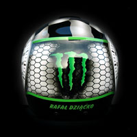 airbrush aerograf custompainting helmet kask Schuberth E1 Monster