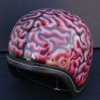 aerograf airbrush brain helmet kask orzech