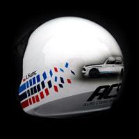 airbrush aerograf kask rajdowy kartingowy helmet race bmw m3 acs