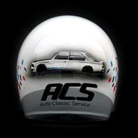 airbrush aerograf kask rajdowy kartingowy helmet race bmw m3 onr