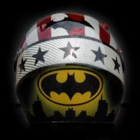 airbrush malowanie aerografem kask carbonparagliding helmet batman dywizjon 303