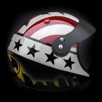 airbrush malowanie aerografem paragliding helmet batman division 303