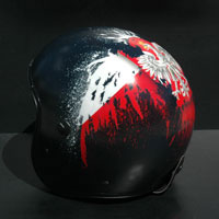 aerograf airbrush patriotyczny kask polska