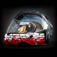 airbrush aerograf motorcycle helmet art kask shoei neotec II patriotyczny orzeł polska patiotic eagle white red
