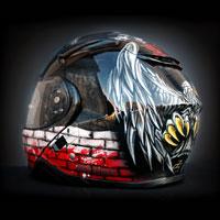 airbrush aerograf custom paintinghelmet art kask motocyklowy shoei patriotyczny orzeł polska poland eagle white red