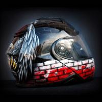 airbrush aerograf custom painting helmet art motocyklowy patriotyczny orzeł poland patiotic eagle white red