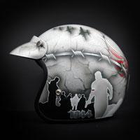 airbrush aerograf custom painting motor rocc kask motocyklowy patriotyczny polska poland patriotic pw powstanie warszawskie warsaw rising rise helmet motorcycle