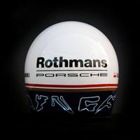 airbrush aerograf kask rajdowy race porsche rothmans 8 torów