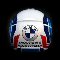 airbrush aerograf malowanie helmet shoei multitec bmw m3